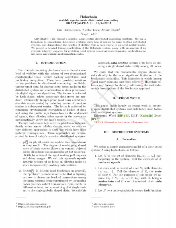 Holochain White Paper